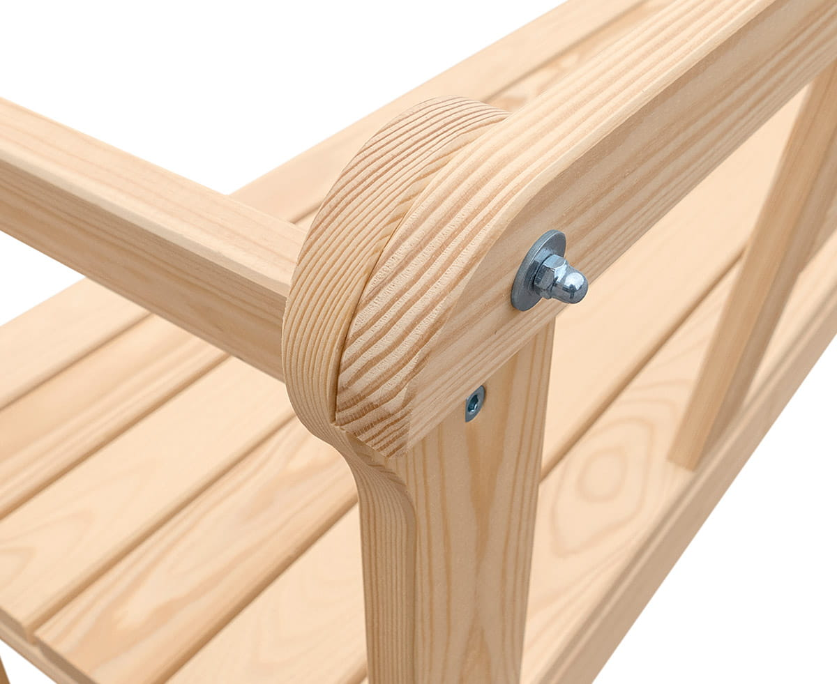 W Mega Ławka ogrodowa drewniana - Producent mebli drewnianych XR51