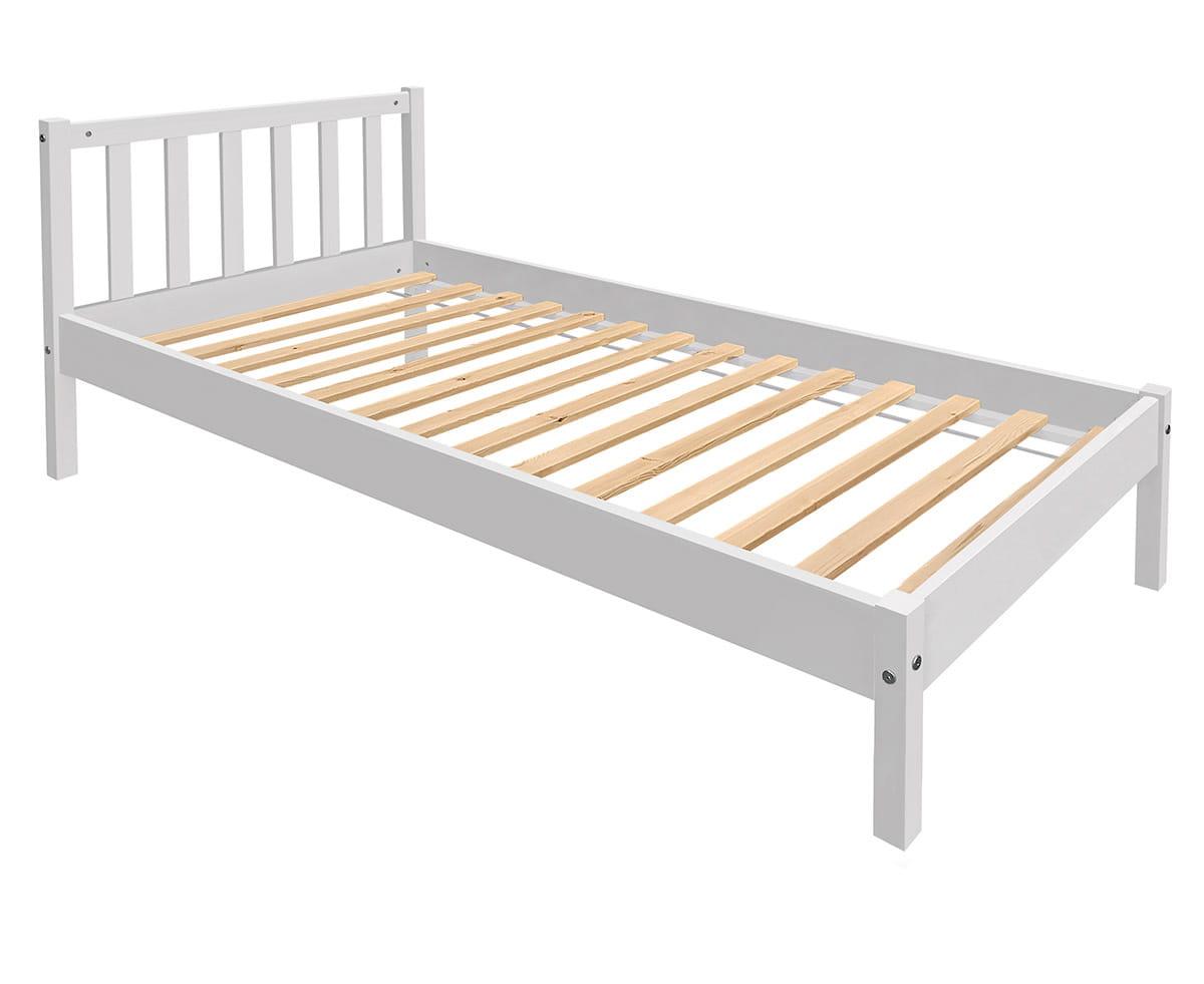 łóżko Drewniane Jednoosobowe Berno