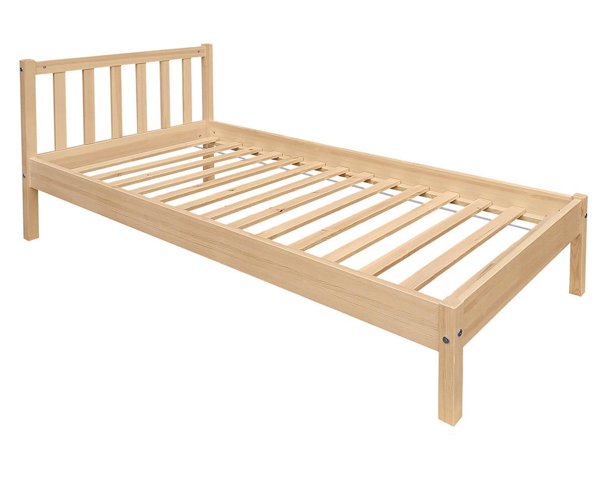 Masywnie Łóżko drewniane jednoosobowe Berno - Producent mebli drewnianych YL32